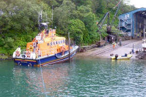 Oban Lifeboat at Crinan Boatyard